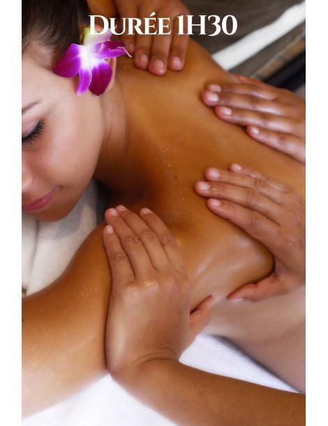Massage à 4 mains 1H Version relaxante